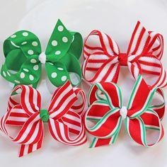 Large Holiday Grosgrain Hair BowIdeas DIY Navidad manualidades decoracion. Christmas holiday ideas decoration lovely. @Reyna