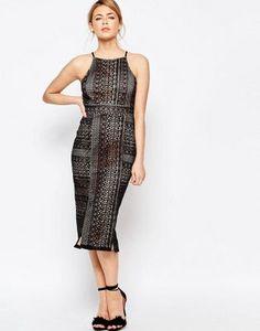 Oasis Lace Detail Pencil Dress