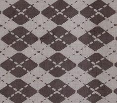 Yards Indian Block Print Brownish Grey Color Fabric, Wood Printed 100% Cotton Soft Fabric, Dabu Print Mud Resist Hand Printed Fabric HPS#252 by handprintedshop on Etsy