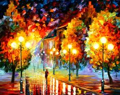 Here You can find a collections of Belgium cityscapes painted by Leonid Afremov. This is an original oil on canvas from my older collection, now you can see . City Painting, Oil Painting On Canvas, Painting Art, Painting Wallpaper, Hd Wallpaper, Night City, Leonid Afremov Paintings, Favim, Online Gallery