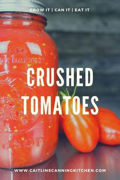 Tomatoes, in my opinion, are one of the most versatile things you can easily grow in your garden. From salsa, to spaghetti sauce, bruschetta in a jar, crushed tomatoes, whole tomatoes, and many more! #Canning #Preserving #Tomatoes #USDA Canned Tomato Recipes, Canned Tomato Sauce, Vegetable Recipes, Canned Foods, Crushed Tomato Recipe, Canning Crushed Tomatoes, Canning Whole Tomatoes, Easy Canning, Canning Salsa