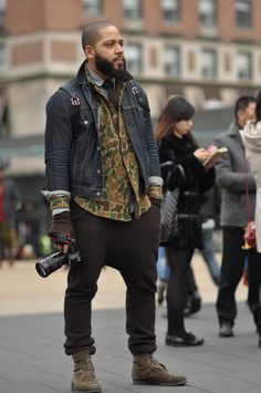 via DapperLou.com  Menswear blogger Justin Bridges in camo