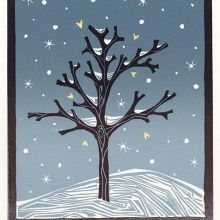 Lino Print Christmas Cards -
