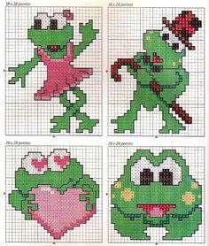 Frogs perler bead pattern
