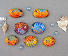 If you're looking for a great summer design for your home, you could be able to get a rock and unleash your talent in making these wonderful and colorful creatures of the ocean.