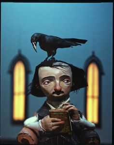 """Poe and The Raven - Mr. Uzwyschen made me feel smart when I read this poem... When he asked why the Poe chose """"Lenore"""" I (for the first time in my life in LA) said something that kind of made sense and he sang my praises... great memory"""