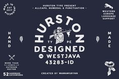 Buy HURSTON TYPE by wawawsrynn on GraphicRiver. HURSTON TYPE is one of the font that I made a year ago, mostly, i use this font for some client's design, I initially. Design Typography, Logo Design, Graphic Design, Retro Typography, Retro Logos, Graphic Art, Business Brochure, Business Card Logo, Texture Web
