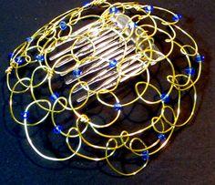#Kippah #Yarmulke for Jewish women  Gold with Blue by @lindab142