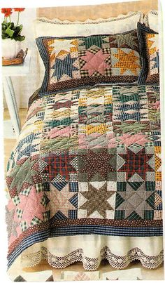 Ravelry: knitterinme's Ohio Star Afghan ~ inspiration for crochet or knit afghan?