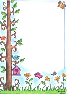 Frame Border Design, Boarder Designs, Page Borders Design, Portfolio Kindergarten, Front Page Design, Powerpoint Background Design, Boarders And Frames, Page Decoration, Framed Wallpaper
