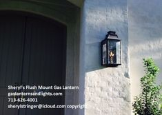 Sheryl's Flush Mount Gas Lanterns - Gas Lanterns and Lights, Modern Farmhouse Gas Lanterns, Modern Farmhouse Gas Lights Exterior Lighting, Outdoor Lighting, French Country Exterior, Gas Lanterns, Gas Lights, Modern Farmhouse Design, Hotels And Resorts, Entrance, Sconces
