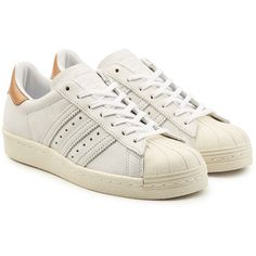 timeless design cbea4 1a170 Adidas Originals Superstar 80s Leather Sneakers (99) ❤ liked on Polyvore  featuring shoes, sneakers, white, adidas originals, leather trainers, ...
