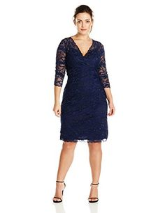 Marina Women's Plus-Size Crescent Lace Dress Criss Cross At Front, Navy, 14W Marina http://www.amazon.com/dp/B014GYLY5A/ref=cm_sw_r_pi_dp_gFdhwb1TW6YKT