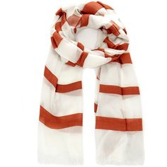 Theory Striped Novelty Nautical Scarf ($93) ❤ liked on Polyvore featuring accessories, scarves, white, striped scarves, nautical scarves, white shawl, white scarves and lightweight scarves