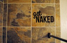 Shower / Bathroom Wall Decal by monogramxoxo on Etsy