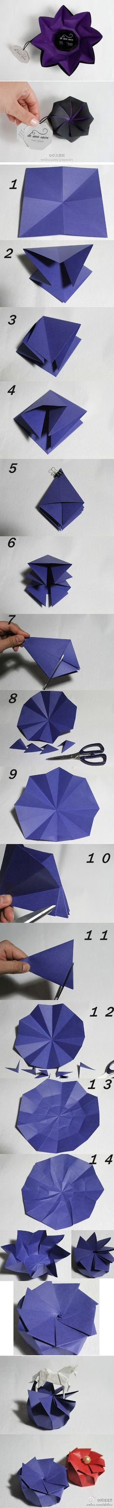 139 best origami 3 d images on pinterest in 2018 origami paper origami flower box tutorial mightylinksfo