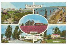 NORFOLK - HEACHAM Hunstanton, Multi-View Postcard STATION ROAD, BEACH etc | eBay