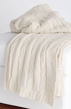 cable knit throw blanket   Rizzy Home