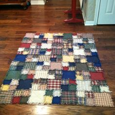 My easy rag quilt.
