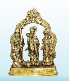 Ram Parivar Idol In Brass Religious God Sculpture Festival