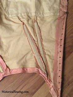TUTORIAL/TECHNIQUE --- 3 historic correct methods to add boning to bodice darts. HistoricalSewing.com