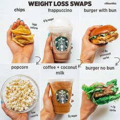 These Swaps Will Not Only Save Your Waistline But Also Your Health Love To Make Smart Food Choices Some Healthy Swaps To Add To Your Nutrition Routine Healthy Food Swaps, Healthy Meal Prep, Healthy Drinks, Healthy Recipes, Healthy Foods, Healthy Food Ideas To Lose Weight, How To Eat Healthy, Low Calorie Fast Food, Healthy Lunch Ideas