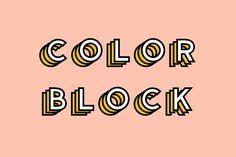 Color Block - Colored Font - Display