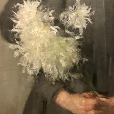 Olga oznanska Girl with Chrysanthemums The National Museum Krak C w Poland detail