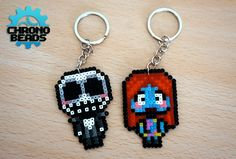 ATTENTION: the products are all handmade at the time of the request so they may differ from the images above. Original design by ChronoBeads. ********************* Jack Skellington and Sally from Nightmare Before Christmas. We hope you like it! :D They are made with hama beads mini (2,5) and ironed on both sides. Everything you see in the store is entirely designed by us. Please add credits if you want to reproduce and we ask you to dont use them for commercial use. *********************...
