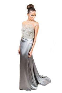 Vestido Trinitá prateado