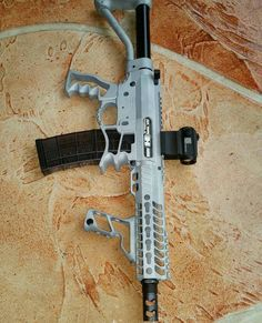 Skeletonized AR-15. Ridiculously light, and with the lightest rifle ammo for long travel times its perfect http://www.instagram.com/yetichaos