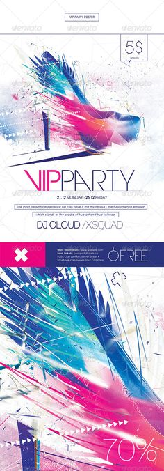 Vip Party Poster Template PSD | Buy and Download: http://graphicriver.net/item/vip-party-poster/8498350?WT.ac=category_thumb&WT.z_author=lazyland&ref=ksioks