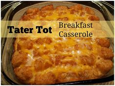 Tater Tot Breakfast Casserole Easy Recipe Southern Cooking Reader Favorite Make Ahead Delicious Tasty Family Meals What's For Breakfast, Breakfast Items, Breakfast Dishes, Breakfast Recipes, Southern Breakfast, Christmas Breakfast, Christmas Morning, Brunch Recipes, Tater Tots