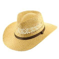 105403ecfe0 HAVANA Fedora Vented Panama Outback Straw Hat Ultrafino 7 3 8 ULTRAFINO  http