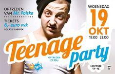 Teenage party, woensdag 19-10-2011 (Lucky The Feel Good Provider, Rijssen) Line-up: Mr. Polska...