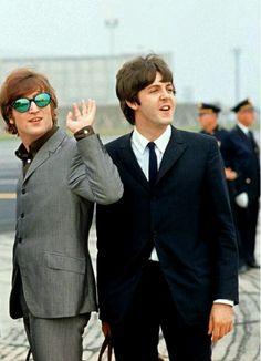 Great photo of john and Paul