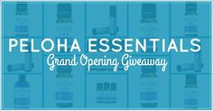 Peloha Essentials is giving away great essential oil products every day in the month of November to celebrate their grand opening!