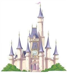 Princess Castle Disney Mini Mural - Kids Decorating Ideas
