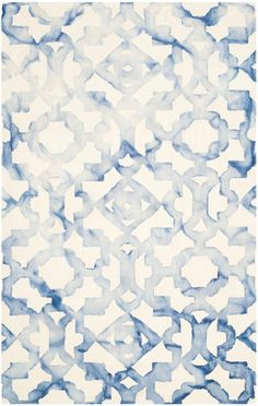 DDY717A Rug from Dip Dye collection. An alluring interplay of color and texture distinguishes Dip-Dyed rugs by Safavieh as one-of-a-kind works of art for your floor. Each rug is hand-tufted of wool and dyed twice to produce motifs in striking gradations of color against a solid ground.