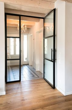 Porte mezzanine en acier - Porte mezzanine en acier Informations About Stahl-Loft-Tür Pin You can easily use m - Dream House Exterior, Dream House Plans, Plans Loft, Design Loft, Living Room Inspiration, Future House, Interior Architecture, New Homes, Industrial