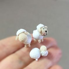 cute kawaii mini gift or decorations to crochet the snow dog and reindeer amigurumi Bunny Crochet, Crochet Art, Crochet Patterns Amigurumi, Cute Crochet, Crochet Animals, Crochet Crafts, Crochet Dolls, Yarn Crafts, Crochet Flowers