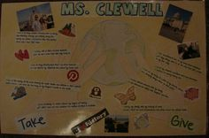 I work on an amazing team. We asked the kids to create a metaphor with writing about their hands for hanging in our hallways, and we made sure we each had one too. Here are Ms. Clewell's globally aware hands! Visit this lesson online:  http://corbettharrison.com/free_lessons/Presenting-Me-Limited-Version.htm