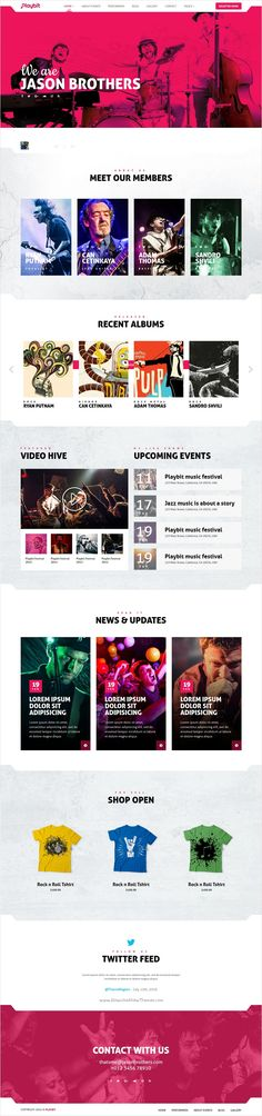 Playbit is a responsive and professionally designed #bootstrap #template for #nowplaying, Musical #bands, #DJ, Musicians, Music Producer, Music event or any other music related festival website with 4 unique homepage layouts download now➩ https://themeforest.net/item/playbit-bootstrap-music-template/17504682?ref=Datasata