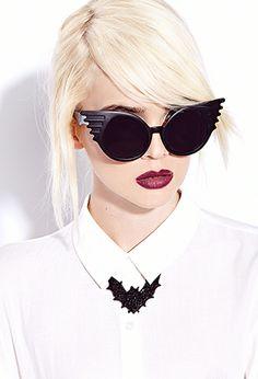 Rhinestoned Bat Pendant Necklace | FOREVER21 - #NatickMallfavefrights  Halloween Style