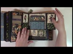 This video shows the finished and completed Wonderland Mini Album with all pages and tags decorated. Mini Albums, Alice Book, Chicken Scratch Embroidery, Card Making Designs, Handmade Scrapbook, Mini Album Tutorial, Girl Scout Crafts, Mini Scrapbook Albums, Crafts For Girls