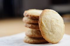 Simple lemony cookies: i picture a hot mug of tea, winter wonderland outside, cozy kitchen with friends, and these cookies.