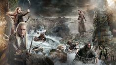 People 1920x1080 The Hobbit movies Legolas Orlando Bloom Evangeline Lilly Tauriel The Hobbit: The Desolation of Smaug dwarfs