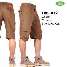 Model Celana Pendek Pria Cargo Shorts Canvas/Santai/Hiking Terbaru TRBS012