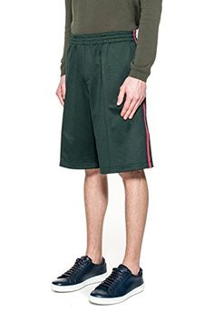 GUCCI MEN'S 415736X59233044 GREEN POLYESTER SHORTS
