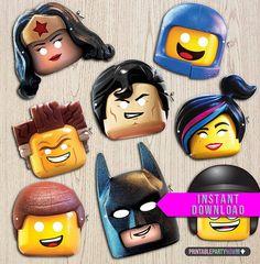 masks of The LEGO Movie characters, Lego movie Birthday Game, Lego printables, Lego Party Decorations, lego masks. on Etsy, $2.99